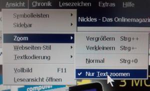 Nur Text zoomen
