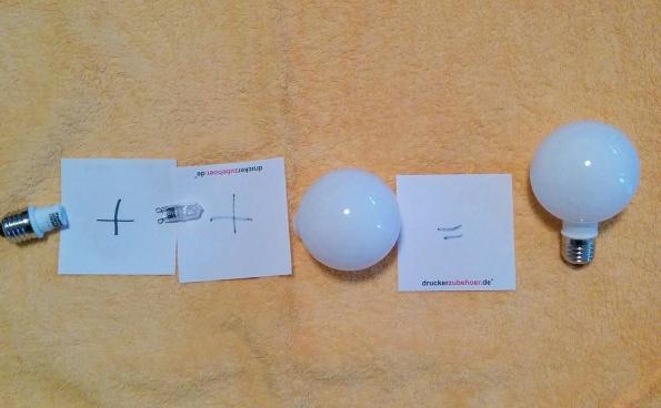 Lampenkombination mit Halogen G9
